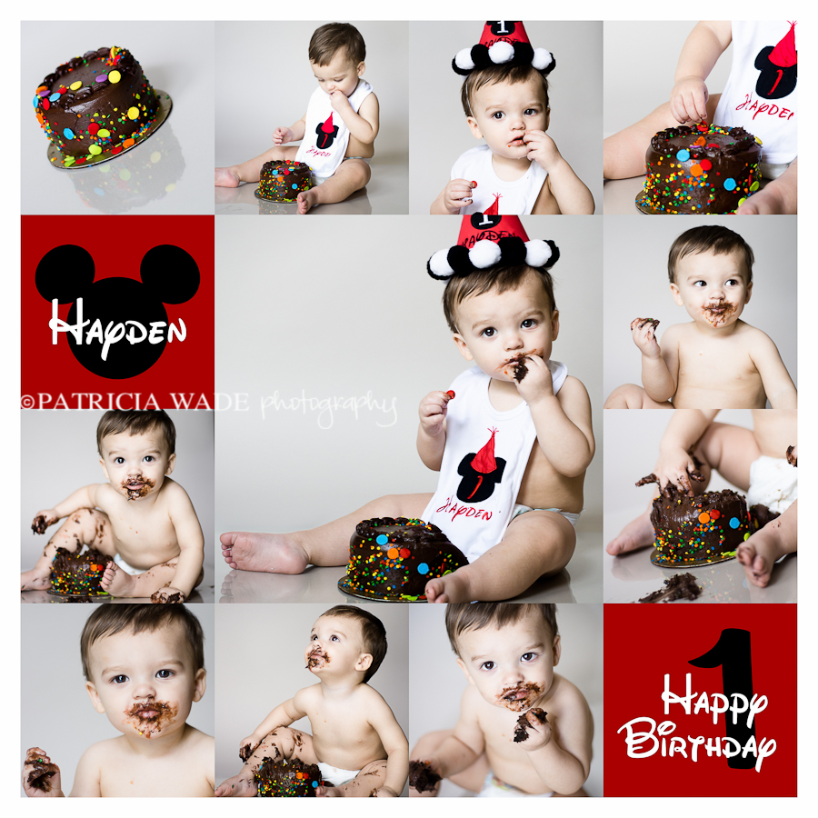 birthday, toddler, collage, cake smash, 1st birthday, west texas, midland, professional photographer